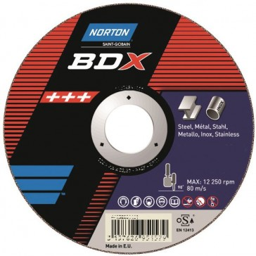 MEULE PLATE RENFORCEE 125X1,6X22,23 BNA12 BDX INOX