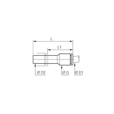 REDUCTION ENCLIQ. D16MM D28MM POLYM.HR 3166 06 08