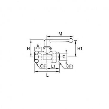 ROBINET 2V F BSPCY L G1/4 P7MM LN 0402 07 13
