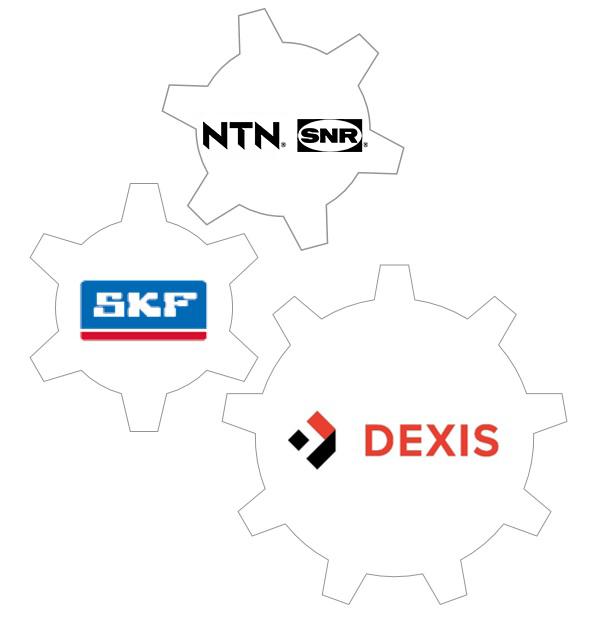 Partenariat entre DEXIS et NTN-SNR et SKF